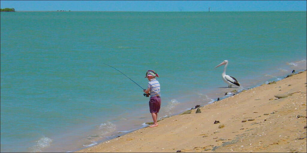 Fishing on the Norman River Estuary, Queensland