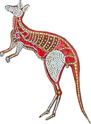 Depiction of kangaroo by artist Daniel Goodwin