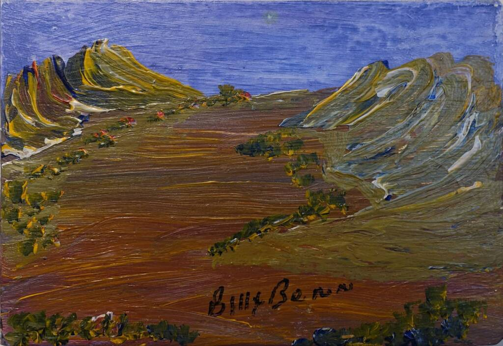 Central Australian Landscape (Cat 14368BB) by Billy Benn Perrurle, courtesy Gallery Gondwana