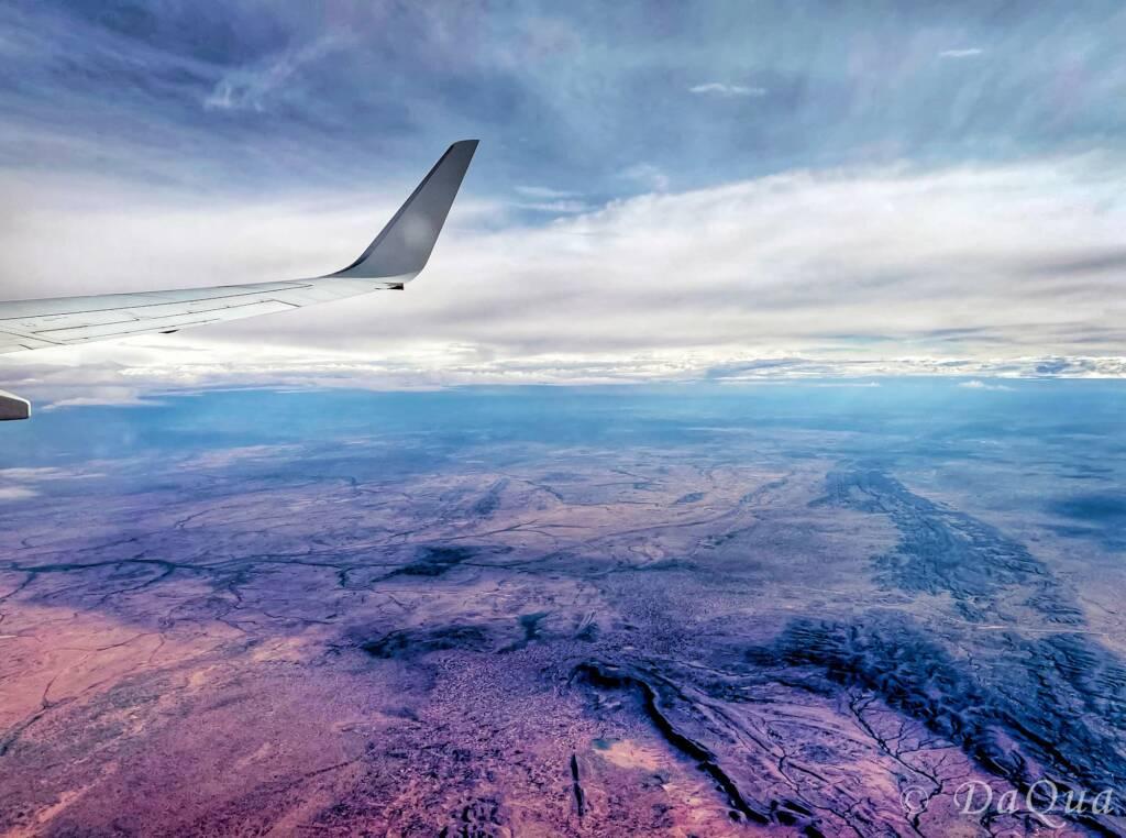 Aerial view above the horizon by Da Qua