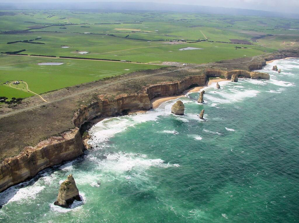 Aerial view of the Great Ocean Road, VIC