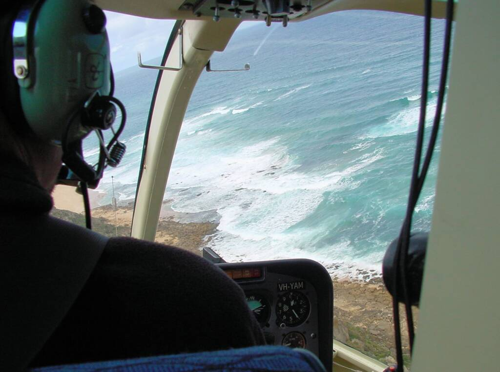 Helicopter - aerial view of the Great Ocean Road, VIC