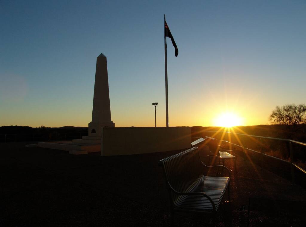 Sunrise from ANZAC Hill War Memorial, Alice Springs, NT