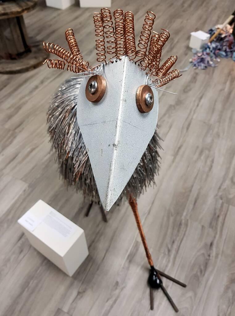 Doris the emu by Georgia O'Neill - Alice Springs Youth Recycled 2019