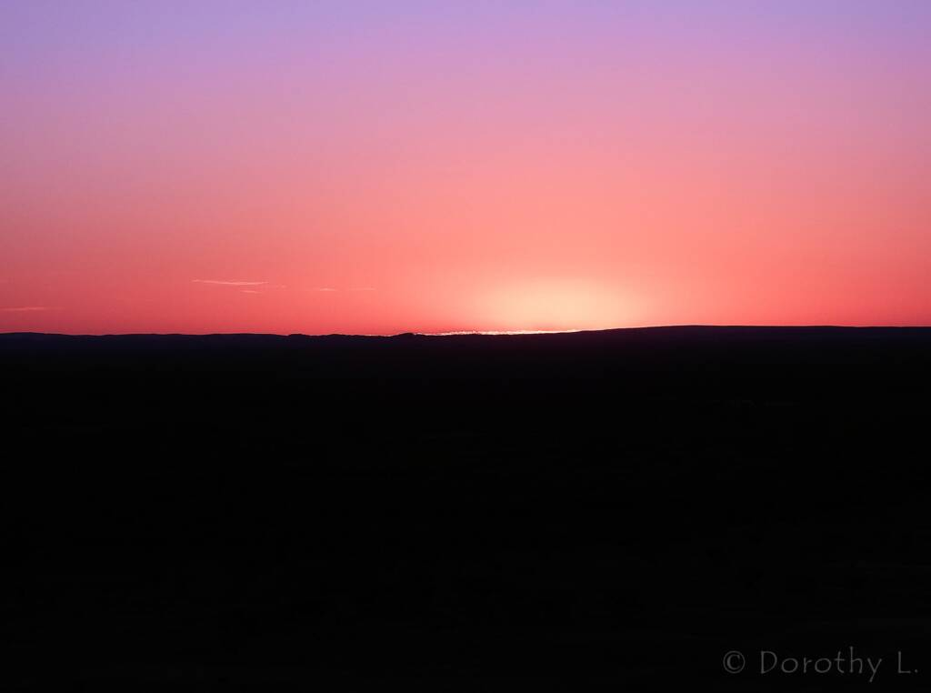 Sunrise over Alice Springs