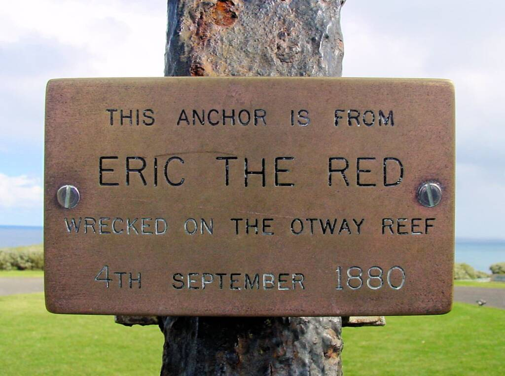 Sign from Eric The Red anchor - Cape Otway Lighthouse, Victoria