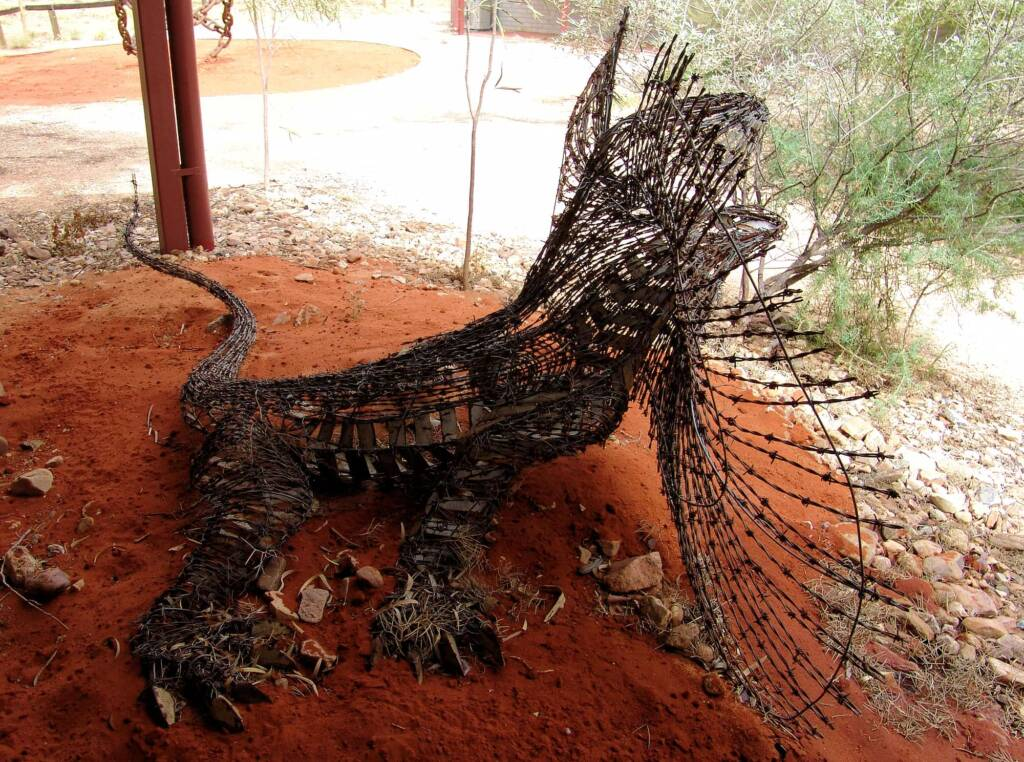 Comet by Dan Murphy - Barbed wire and galvanised metal, 1995 Araluen Collection