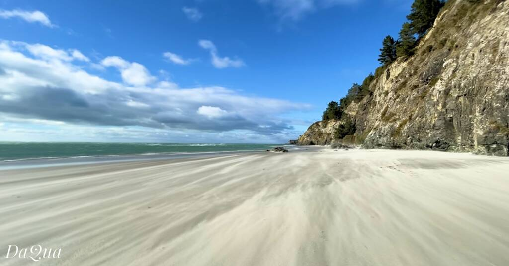 One of the beaches along Doctors Point, New Zealand