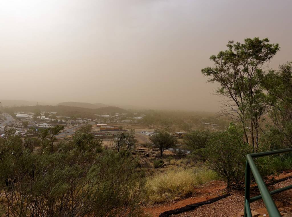 Dust storm over Alice Springs (from Anzac Hill looking west), 1 Dec 2020