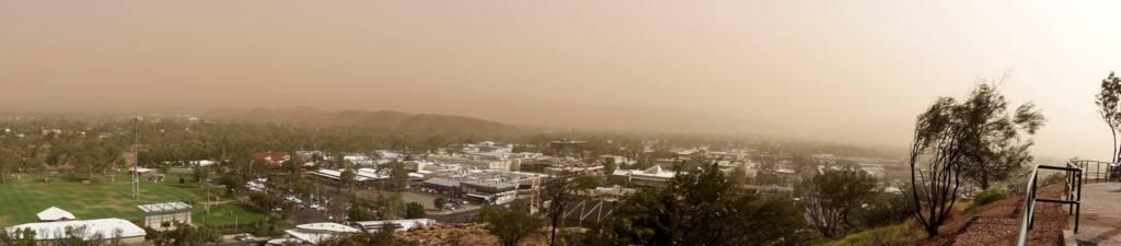 Dust storm over Alice Springs, 1 Dec 2020