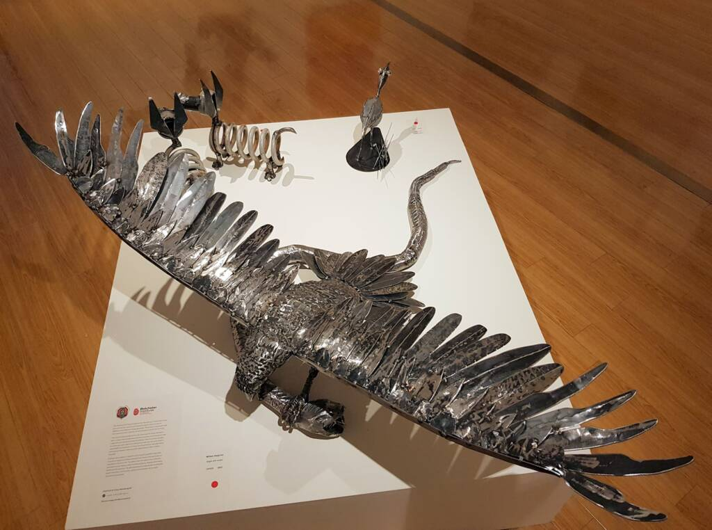 Eagle with snake by William Keighran, Greenbush Art Group, Alice Springs, NT