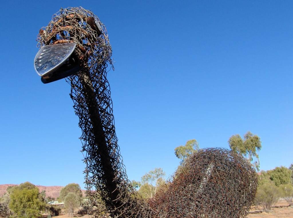 Emu by Al Bethune, Olive Pink Botanic Garden