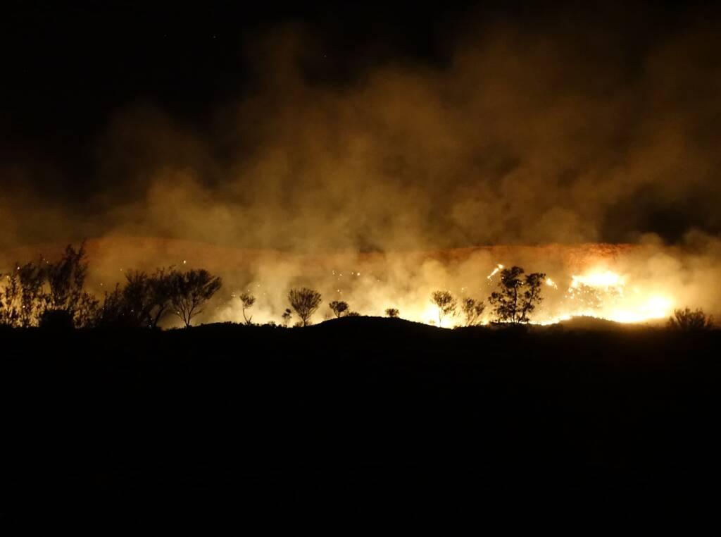 Fire in the Tjoritja / West MacDonnell National Park, 26 Jan 2019