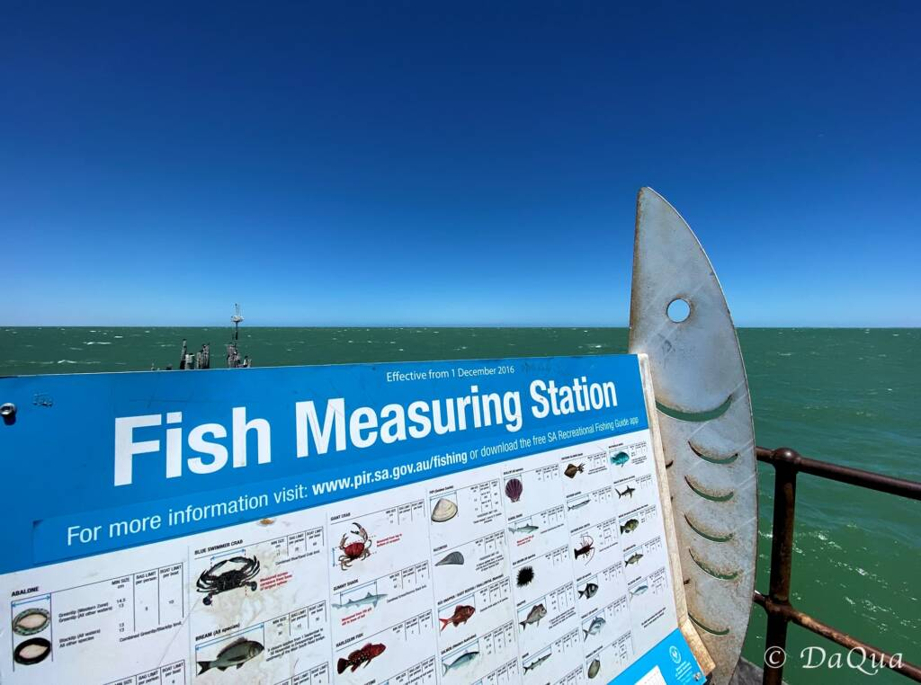 Fish Measuring Station on Port Germein Jetty