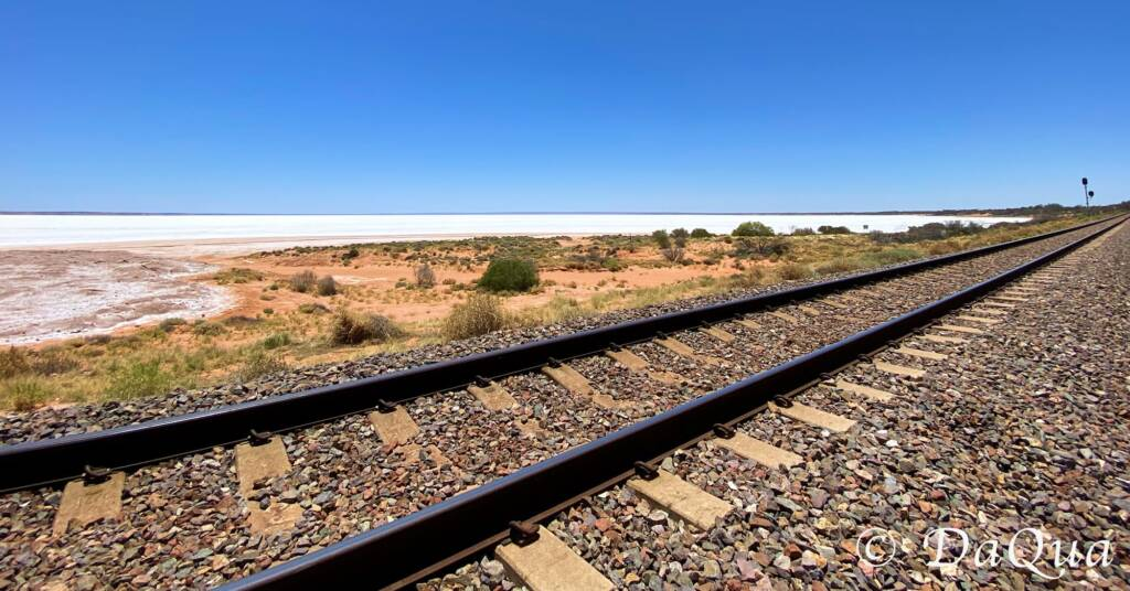 Ghan Track and Salt Lake, South Australia