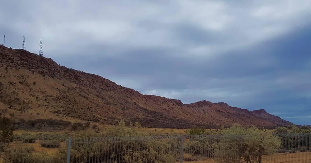 Grey skies over Mount Gillen, NT