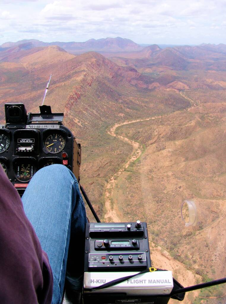 Helicopter tour - aerial view over West MacDonnell Ranges National Park, NT