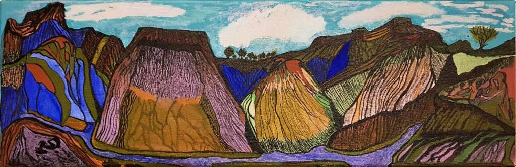 Hermannsburg by Charles Jangala Inkamala, Alice Springs Desert Mob Festival 2020