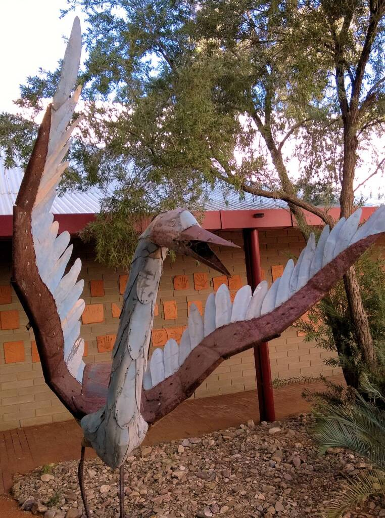 I've Seen The Moon by Dan Murphy - Corrugated Iron and scrap metal, 1995 Araluen Collection
