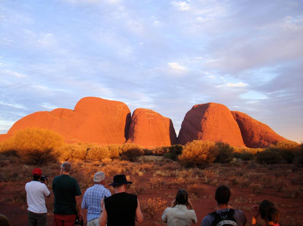 Sunset at Kata Tjuta, Uluru-Kata Tjuta National Park