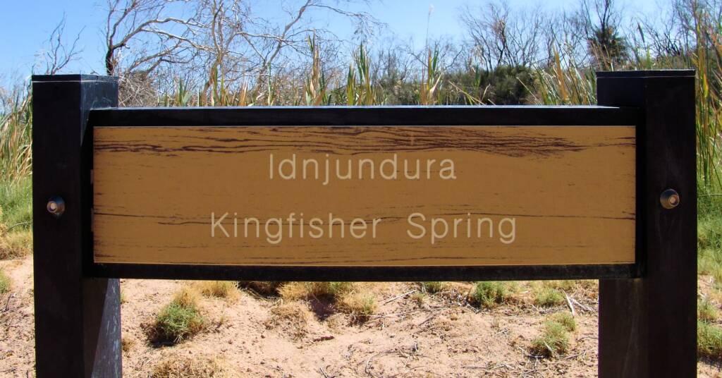 Idnjundura Kingfisher Spring signage