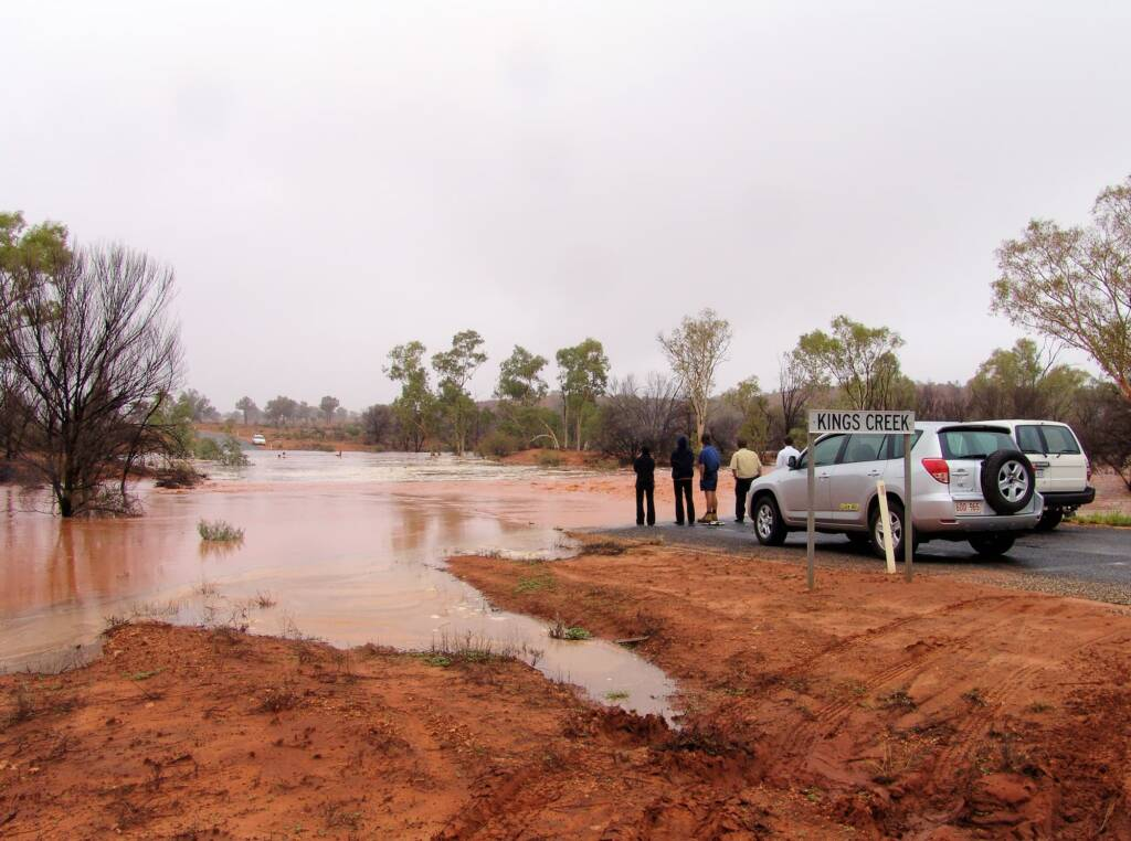 Flood water through Kings Creek - Watarrka National Park