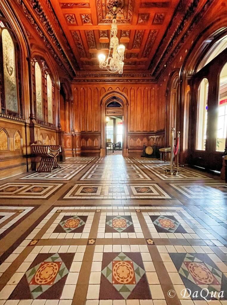Minton Ceramic Floor, Larnach Castle, Dunedin, New Zealand