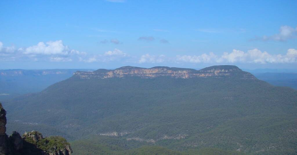 View of Mount Solitary from Echo Point, Blue Mountains