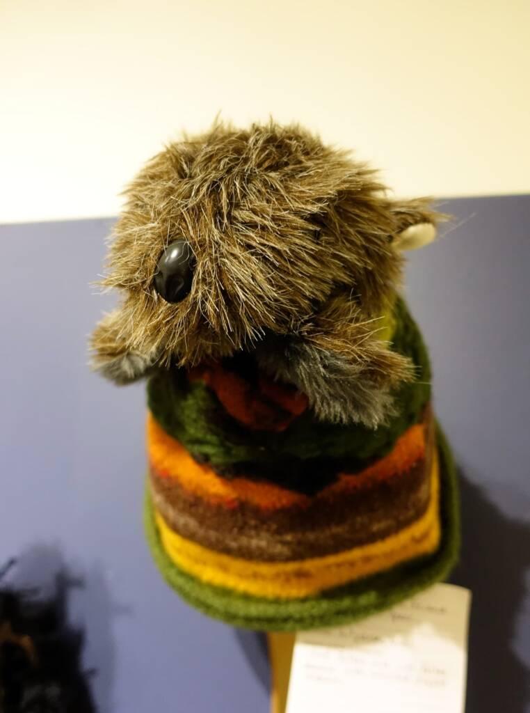 My Wombat Friend by artist Judith Spear, Alice Springs Beanie Festival, 2018