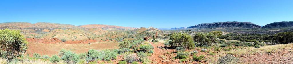 The Neil Hargrave Lookout on Namatjira Drive, Burt Plain, West MacDonnell Range