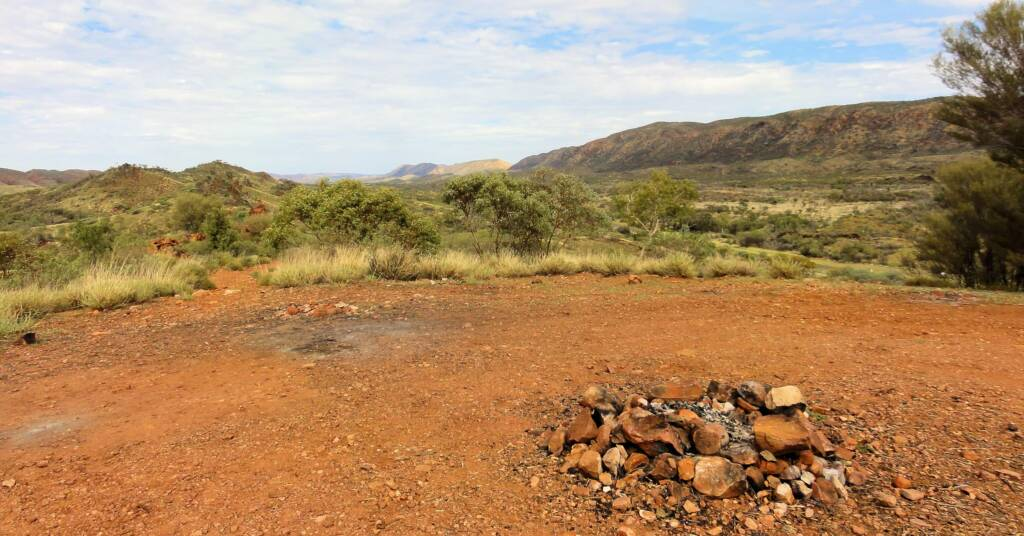 Campsite at the Neil Hargrave Lookout, West MacDonnell Ranges