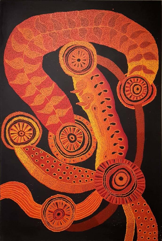 Ngayuku Ngura Kuwari by Marina Pumani Brown, Alice Springs Desert Mob Festival, 2020