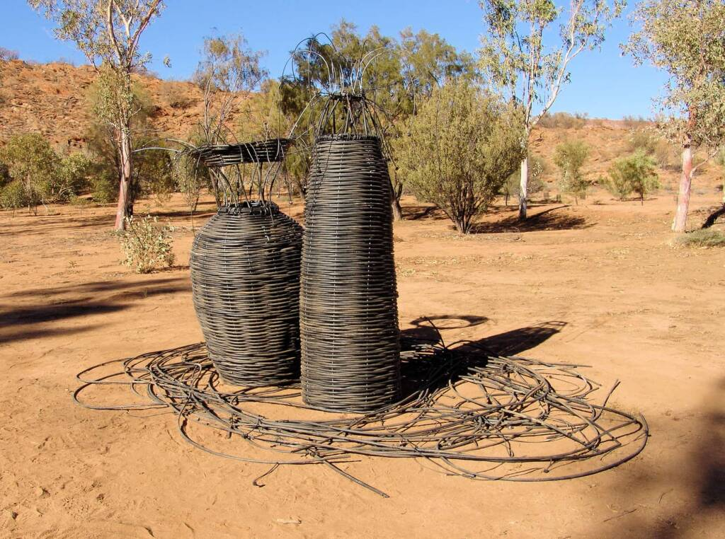 OP Irrigation Revamped - Artist Steve Anderson - (old irrigation lines and rippers, wire)