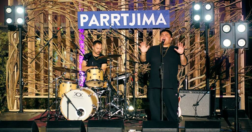Mojo Juju one of the many live acts performing at Parrtjima 2019