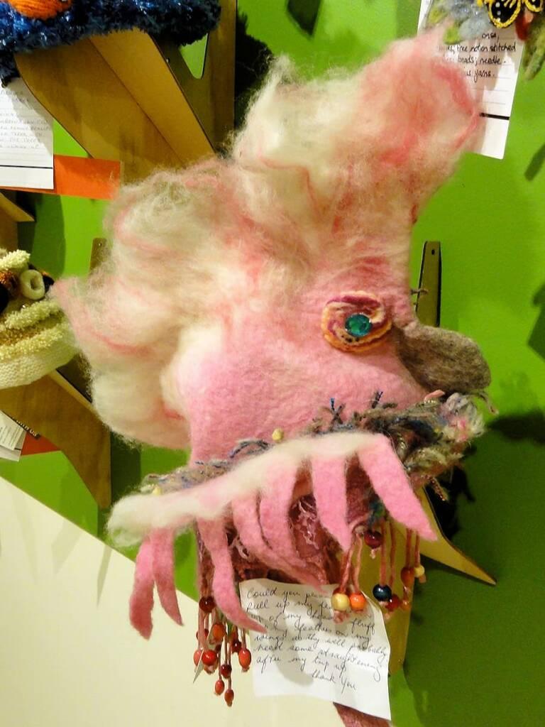 Pauline My Pet Galah by artist Robyn Macshane, Keiraville NSW, Alice Springs Beanie Festival, 2014