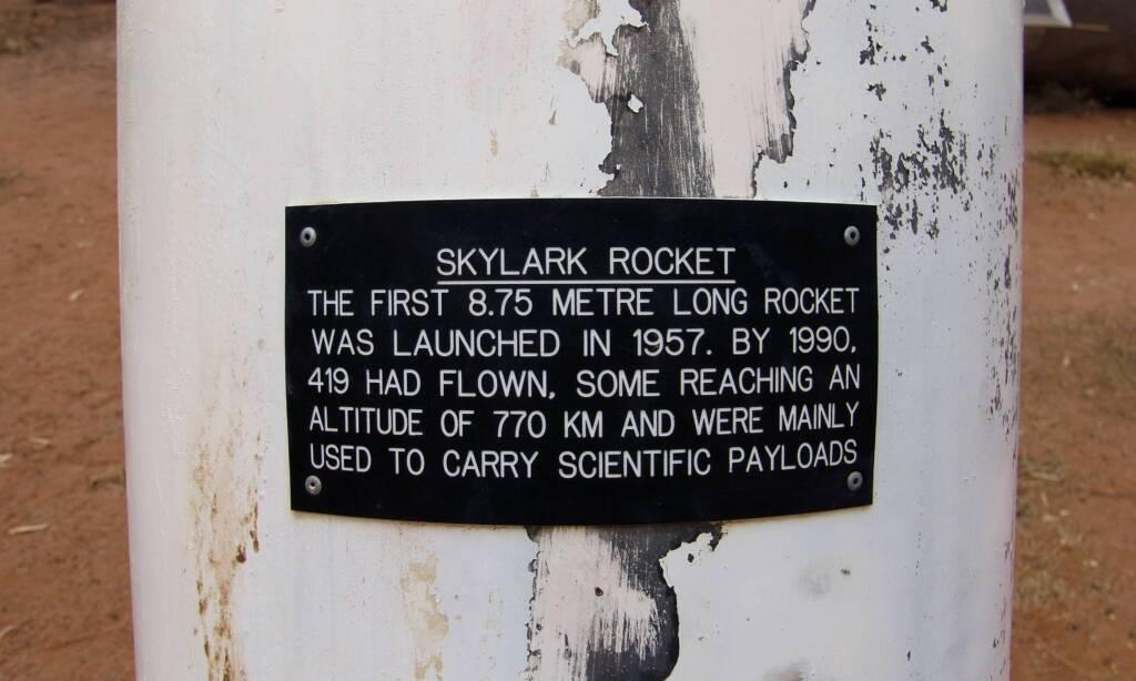 Skylark Rocket signage
