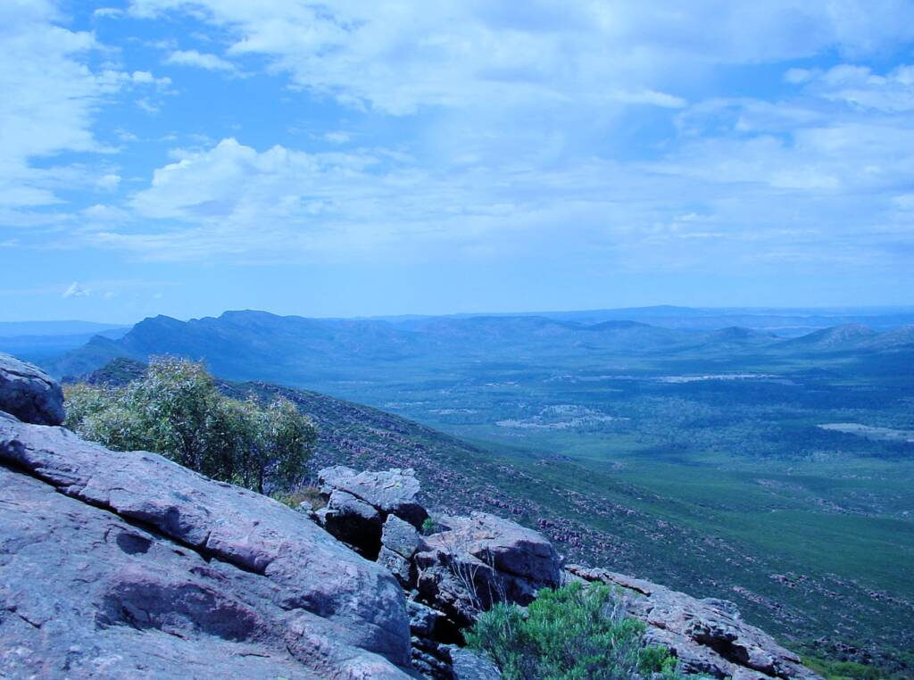 View from St Mary Peak, Wilpena Pound, SA