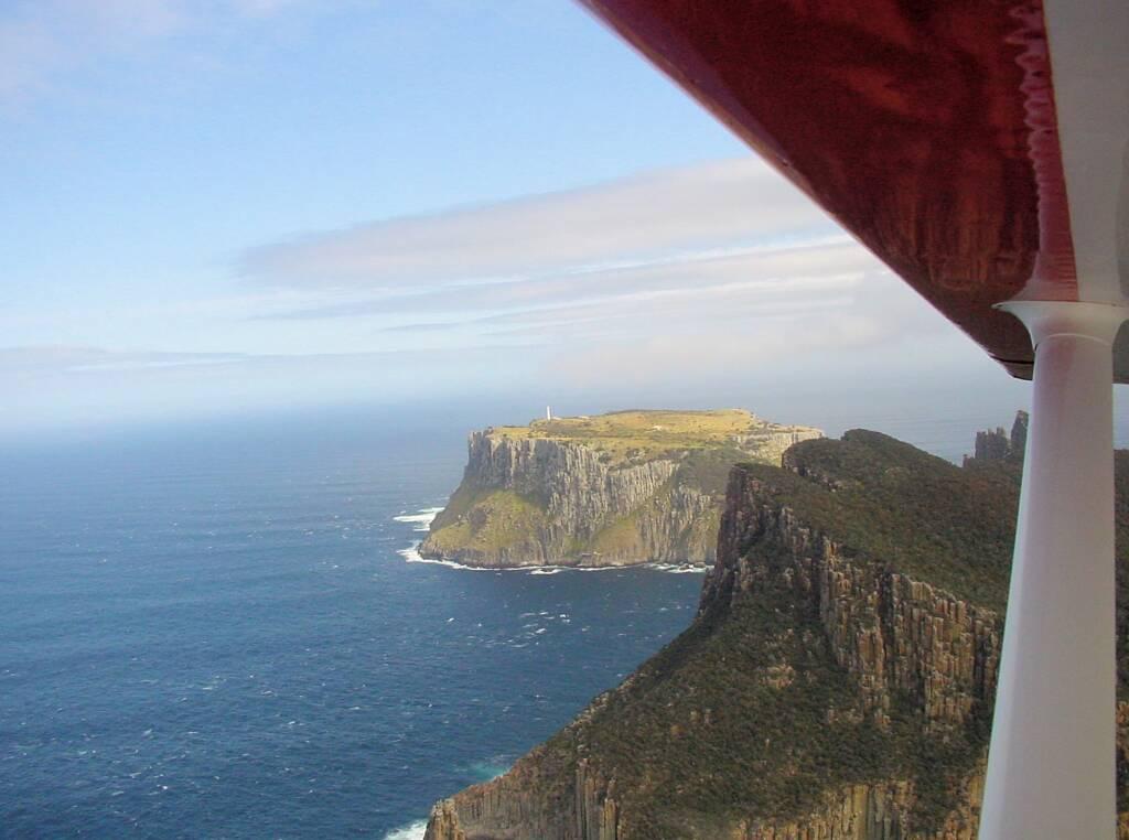 Aerial view of Tasman Island, Tasmania