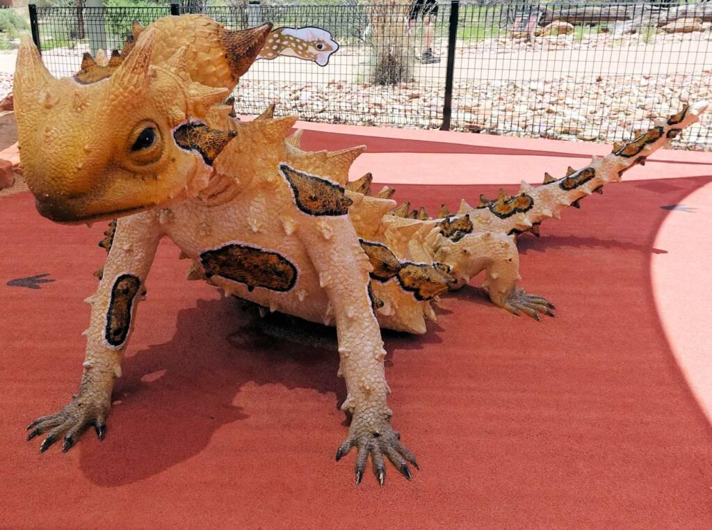 Thorny Devil - Alice Springs Desert Park children playground