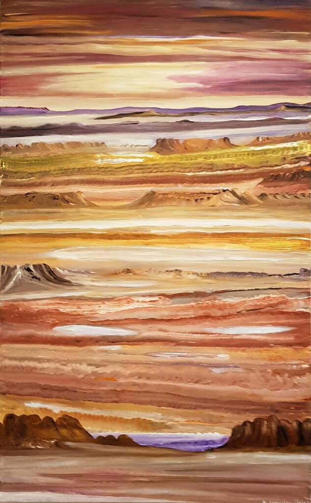 Tjintjira (Salt Pan) by Nita Ferguson, Alice Springs Desert Mob Festival 2020