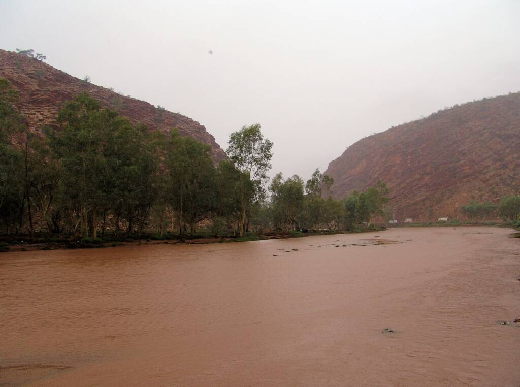 Todd River north of Heavitree Gap.