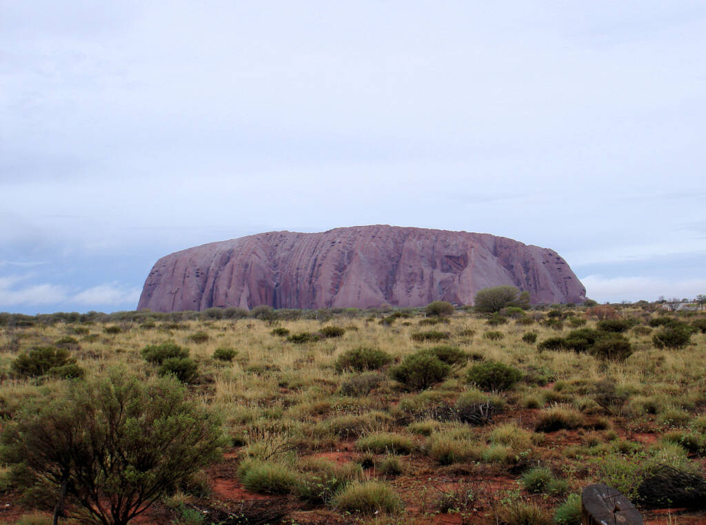 Uluru on a wet day