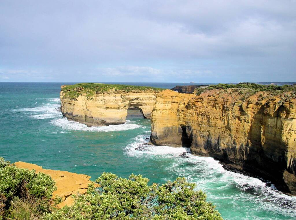 View to Mutton Bird island from Island Arch Lookout, Great Ocean Road, VIC