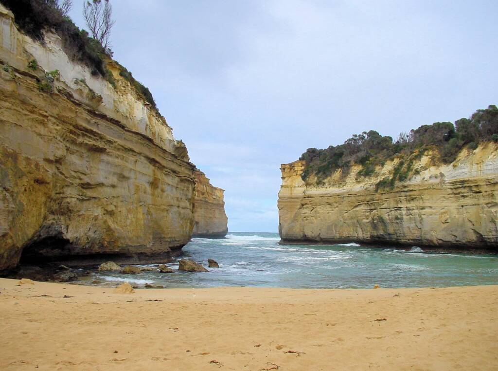 View out to sea from Loch Arch Gorge, Great Ocean Road, VIC