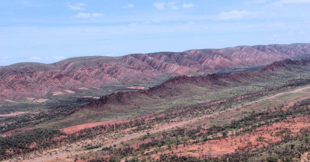 Aerial view over West MacDonnell Ranges