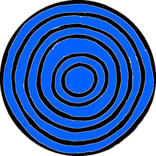 Water symbol (sometimes depicted in blue)