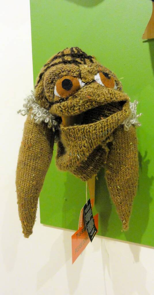 Yoda Grandmaster of the Jedi by artist Louise Thackray (71 yrs), Melbourne VIC, Alice Springs Beanie Festival, 2014
